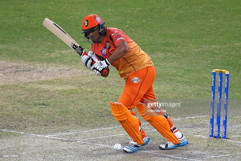 <a gi-track='captionPersonalityLinkClicked' href=/galleries/search?phrase=Azhar+Mahmood&family=editorial&specificpeople=227377 ng-click='$event.stopPropagation()'>Azhar Mahmood</a> of Virgo Super Kings bats during the Oxigen Masters Champions League Semi Final match between Leo Lions and Virgo Super Kings at Dubai International Cricket Stadium on February 12, 2016 in Dubai, United Arab Emirates.