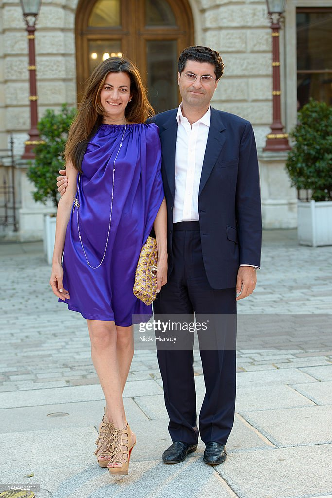 Azia Chatila and Marwan Chatila attend the private VIP view of Royal Academy Summer Exhibition 2012 at Royal Academy of Arts on May 30, 2012 in London, England.