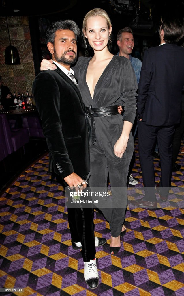 Azim Majid (L) and Dioni Tabbers attend an after party following the 'Welcome To The Punch' UK Premiere at the Hippodrome Casino on March 5, 2013 in London, England.