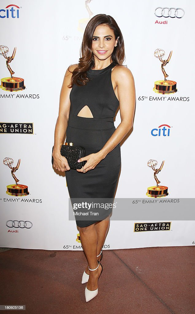 Azita Ghanizada arrives at The Academy of Television Arts & Sciences and SAG-AFTRA celebrate The 65th Primetime Emmy Award Nominees held at Academy of Television Arts & Sciences on September 17, 2013 in North Hollywood, California.