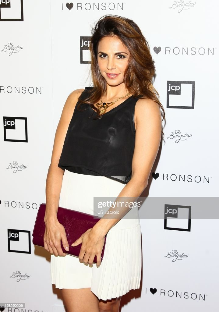 Azita Ghanizada attends the Charlotte Ronson And Jcpenney I Heart Ronson Celebration With Music By Samantha Ronson at The Bungalow on December 11, 2012 in Santa Monica, California.
