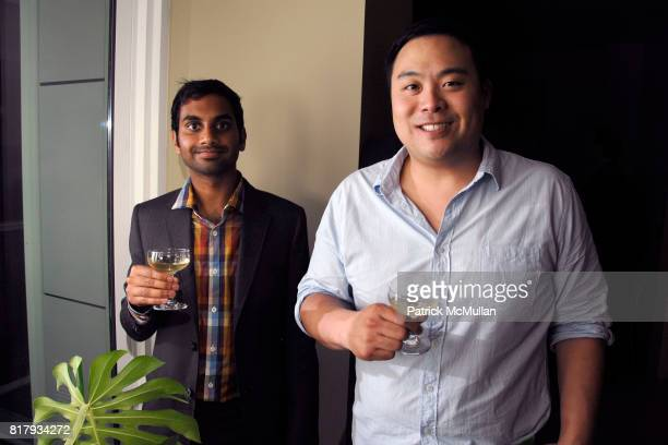 Aziz Ansari and David Chang attend MARTHA STEWART celebrates Editor in Chief VANESSA HOLDEN'S September Issue of MARTHA STEWART LIVING at Kevin...