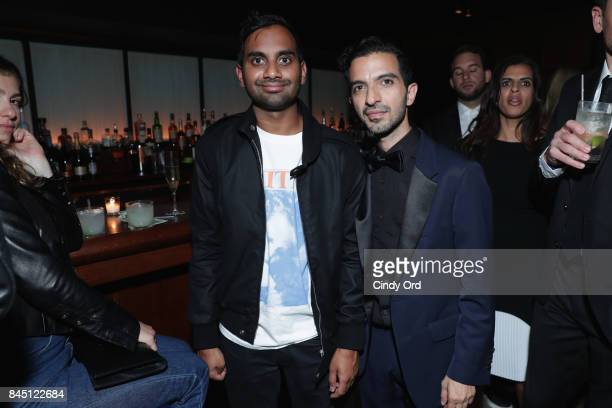 Aziz Ansari and Imran Amed attend at the #BoF500 gala dinner during New York Fashion Week Spring/Summer 2018 at Public Hotel on September 9 2017 in...