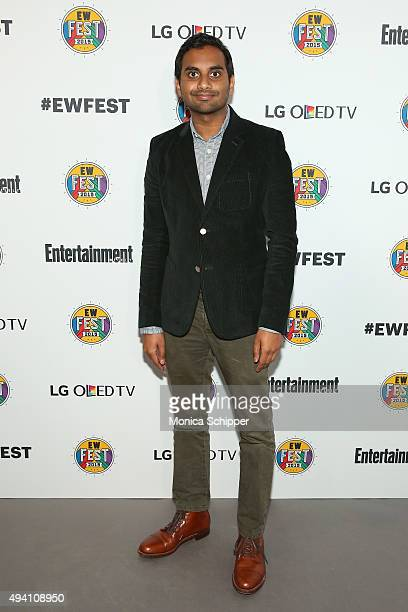 Aziz Ansari attends Entertainment Weekly's first ever 'EW Fest' presented by LG OLED TV on October 24 2015 in New York City