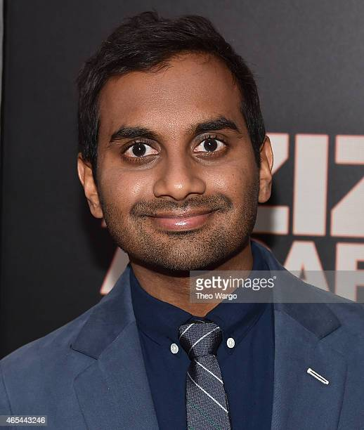 Aziz Ansari attends the 'Aziz Ansari Live at Madison Square Garden' New York Screening at Crosby Street Hotel on March 6 2015 in New York City