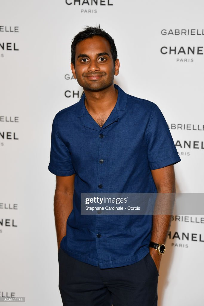 Aziz Ansari attends the launch party for Chanel's new perfume 'Gabrielle' as part of Paris Fashion Week on July 4, 2017 in Paris, France.