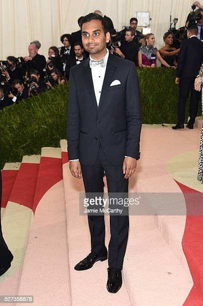 Aziz Ansari attends the 'Manus x Machina Fashion In An Age Of Technology' Costume Institute Gala at Metropolitan Museum of Art on May 2 2016 in New...
