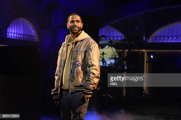 LIVE 'Aziz Ansari' Episode 1716 Pictured Musical guest Big Sean performs on January 21st 2017