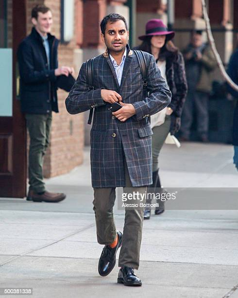 Aziz Ansari is seen leaving his hotel on December 7 2015 in New York City