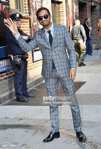 Aziz Ansari is seen on October 6 2014 in New York City