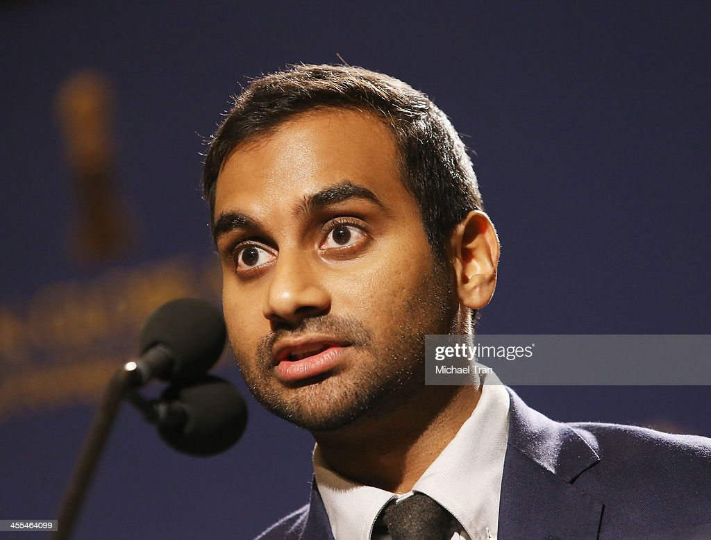 <a gi-track='captionPersonalityLinkClicked' href=/galleries/search?phrase=Aziz+Ansari&family=editorial&specificpeople=4266146 ng-click='$event.stopPropagation()'>Aziz Ansari</a> speaks at the 71st Annual Golden Globe Awards Nominations Announcement held at The Beverly Hilton on December 12, 2013 in Beverly Hills, California.