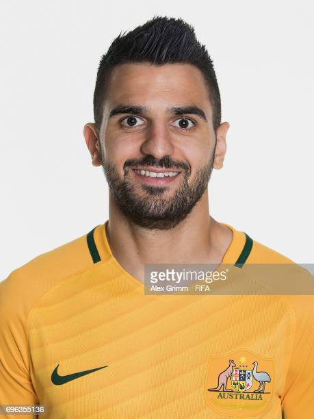 Aziz Behich poses for a picture during the Australia team portrait session on June 15 2017 in Sochi Russia