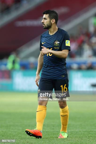 Aziz Eraltay of Australia looks on during the FIFA Confederations Cup Russia 2017 Group B match between Chile and Australia at Spartak Stadium on...