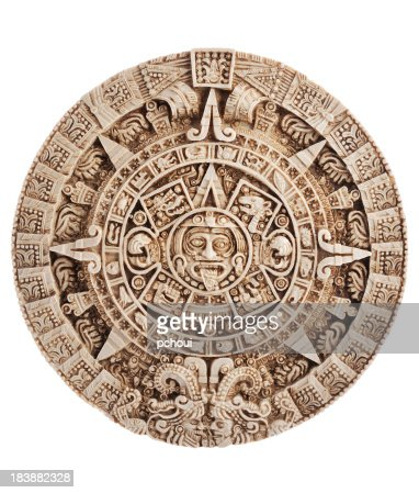 Azteca calendario, pietra del sole, Messico, percorso incluso di ritaglio