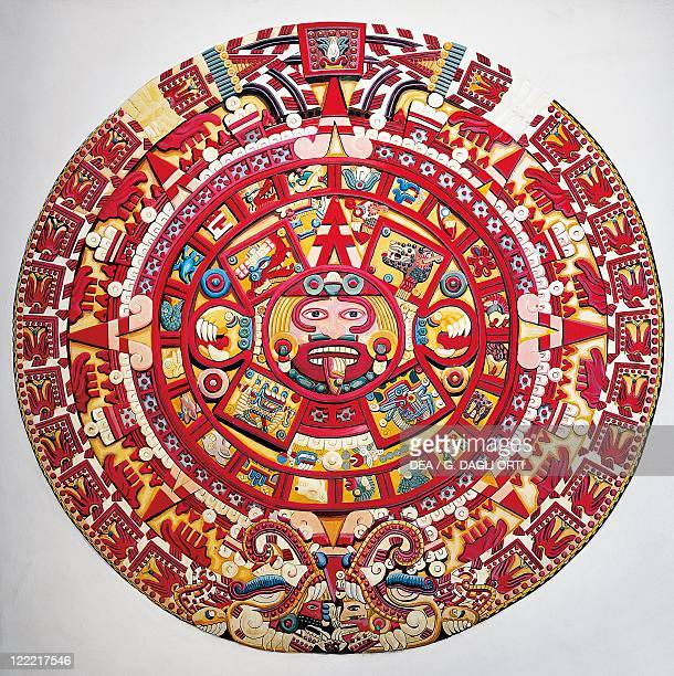 Aztec civilization Mexica culture Reconstruction of solar calendar
