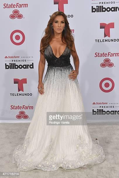 Azucena Cierco arrives at 2015 Billboard Latin Music Awards presented bu State Farm on Telemundo at Bank United Center on April 30 2015 in Miami...