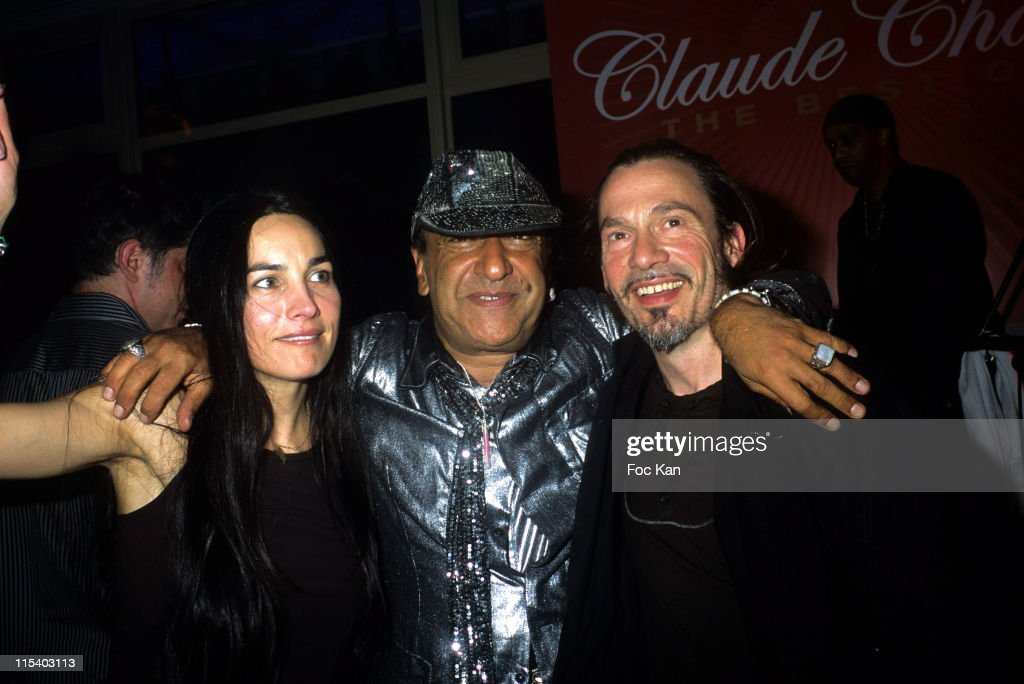 Azucena Claude Challe and Florent Pagny during Claude Challe's Arpege for Men Launch Party Hosted by Lanvin at Pavillon Le Doyen in Paris France