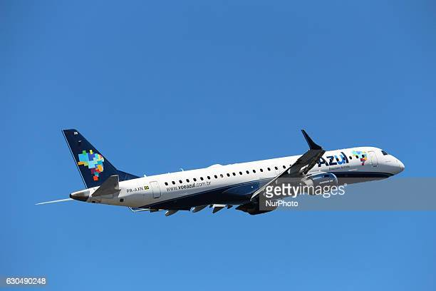Azul airplane at Santos Dumont Airport in Rio de Janeiro Brazil on 23 December 2016 With the festivities of Christmas and New Year the movement in...