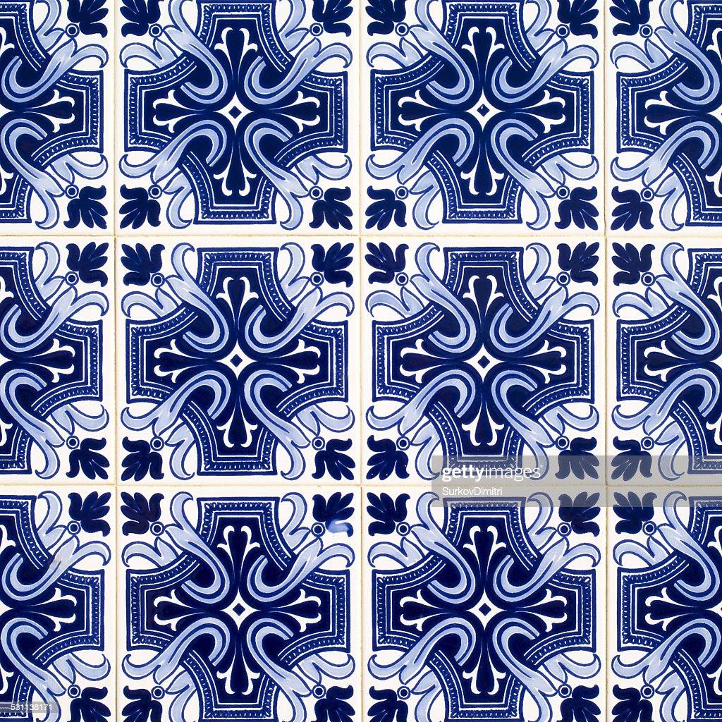 Azulejos, Le Piastrelle Portoghese Tradizionale : Foto Stock