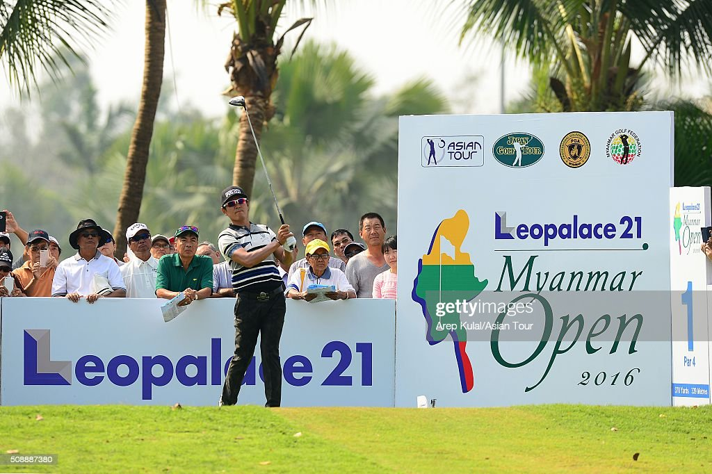 <a gi-track='captionPersonalityLinkClicked' href=/galleries/search?phrase=Azuma+Yano&family=editorial&specificpeople=3967992 ng-click='$event.stopPropagation()'>Azuma Yano</a> of Japan pictured during the final round of the Leopalace21 Myanmar Open at Royal Mingalardon Golf and Country Club on February 7, 2016 in Yangon, Myanmar.