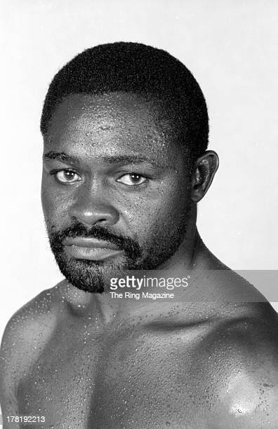 Azumah Nelson poses for a portrait