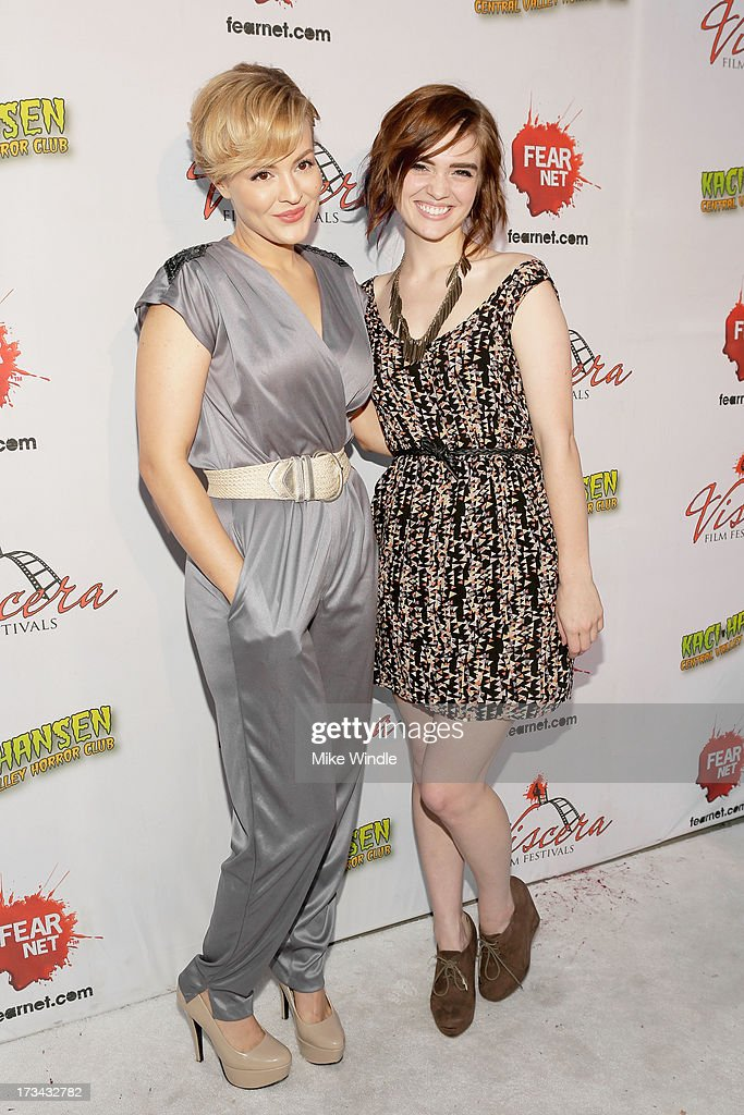 Azure Parsons (L) and Kaylee Score arrive at the 2013 Viscera Film Festival Red Carpet Event at American Cinematheque's Egyptian Theatre on July 13, 2013 in Hollywood, California.