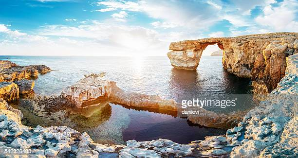 Azure window in sunset, Malta