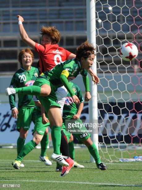 Azusa Iwashimizu of NTV Beleza in actiopn during the Nadeshiko League match between Urawa Red Diamonds Ladies and NTV Beleza at Urawa Komaba Stadium...