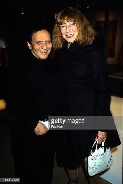 Azzedine Alaia and Bettina Graziani during Shiro Kuramata Design Exhibition Preview Hosted by Azzedine Alaia and Carla Sozzani at Azzedine Alaia...