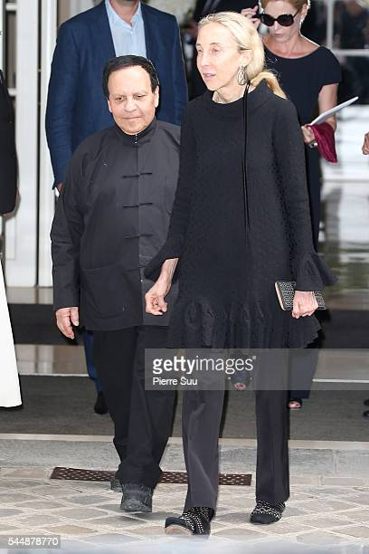 Azzedine Alaia and Carla Sozzani arrive at the Christian Dior Haute Couture Fall/Winter 20162017 show as part of Paris Fashion Week on July 4 2016 in...