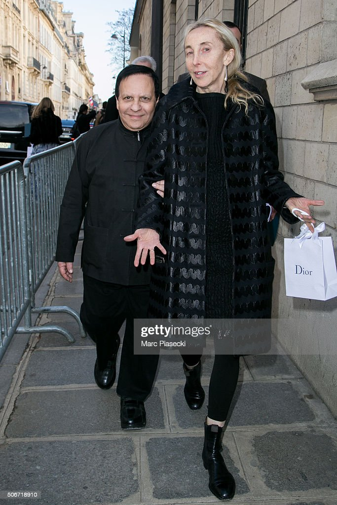 <a gi-track='captionPersonalityLinkClicked' href=/galleries/search?phrase=Azzedine+Alaia+-+Fashion+Designer&family=editorial&specificpeople=8019273 ng-click='$event.stopPropagation()'>Azzedine Alaia</a> and <a gi-track='captionPersonalityLinkClicked' href=/galleries/search?phrase=Carla+Sozzani&family=editorial&specificpeople=884879 ng-click='$event.stopPropagation()'>Carla Sozzani</a> leave the Christian Dior Haute Couture Spring Summer 2016 show as part of Paris Fashion Week on January 25, 2016 in Paris, France.
