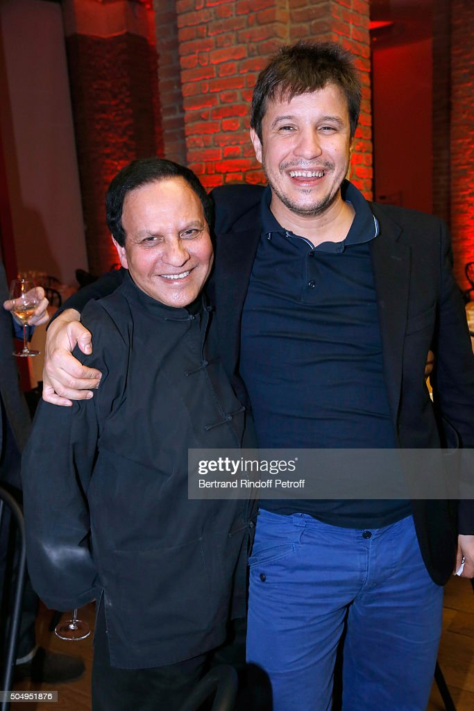 <a gi-track='captionPersonalityLinkClicked' href=/galleries/search?phrase=Azzedine+Alaia+-+Fashion+Designer&family=editorial&specificpeople=8019273 ng-click='$event.stopPropagation()'>Azzedine Alaia</a> and Contemporary artist <a gi-track='captionPersonalityLinkClicked' href=/galleries/search?phrase=Adel+Abdessemed&family=editorial&specificpeople=7277284 ng-click='$event.stopPropagation()'>Adel Abdessemed</a> attend the 'Jean Nouvel and Claude Parent, Musees a venir' Exhibition Opening at Galerie Azzedine Alaïa on January 13, 2016 in Paris, France.