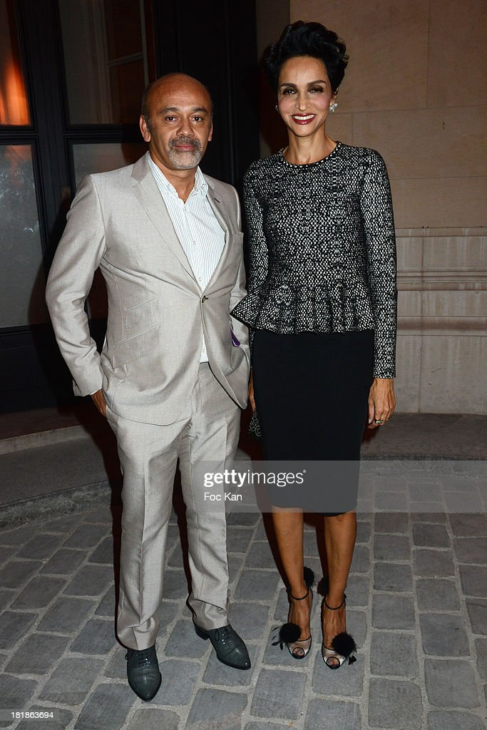Azzedine Alaia and Franca Sozzani attend the Azzedine Alaia Exhibition : At Palais Galliera, Fashion Museum In Paris on September 25, 2013 in Paris, France.
