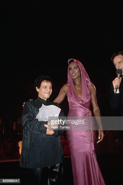 Azzedine Alaia and Grace Jones at the Fashion Oscars