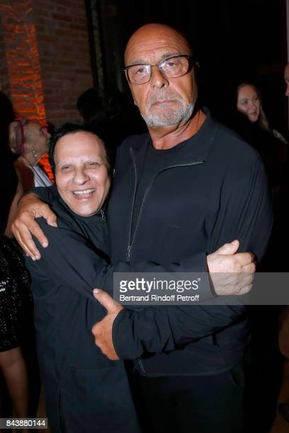 Azzedine Alaia and JeanBaptiste Mondino attend the 'Richard Wentworth a la Maison Alaia' Exhibition Opening at Azzedine Alaia Gallery on September 7...