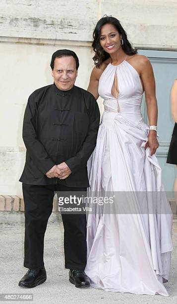 Azzedine Alaia and Rula Jebreal attend 'Couture / Sculpture' Vernissage Cocktail honoring Azzedine Alaia in the history of fashion as part of...