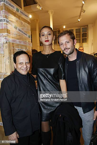 Azzedine Alaia Anouchka and Nicolas Duvauchelle attend the Azzedine Alaia Fashion Show at Azzedine Alaia Gallery on October 23 2016 in Paris France