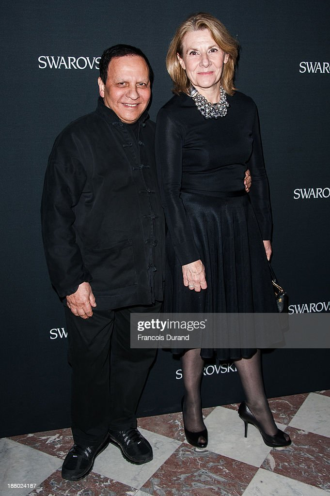 Azzedine Alaia attends the Swarovski Dinner In Honor of the Bouroullec Brothers at Chateau de Versailles on November 14, 2013 in Versailles, France.