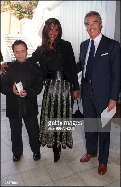 Azzedine Alaia Naomi Campbell and Flavio Briatore in Paris France on October 01 2000