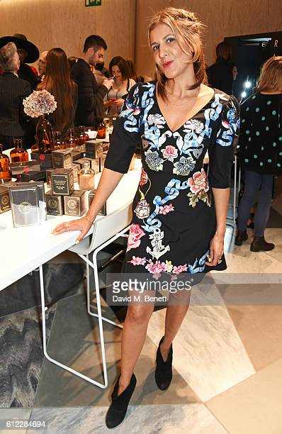 Azzi Glasser attends the launch of 'SX Rankin' a new fragrance collaboration between photographer Rankin and fragrance designer Azzi Glasser at...