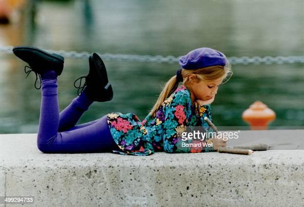 b Floral peplum top $3499 leggings $1299 both at Winners beret $8 at Cotton Basics grosgrain scrunchie $6 crew socks $4 both at Gap Kids laceups...