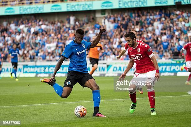 b02 Ricardo Van Thijn defender of Club Brugge s34 Konstantinos Laifis defender of Standard Liege during the Jupiler Pro League match between Club...