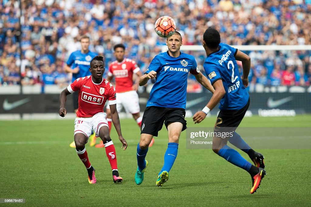 b03 Timmy Simons midfielder of Club Brugge b02 Ricardo Van Thijn defender of Club Brugge during the Jupiler Pro League match between Club Brugge and...