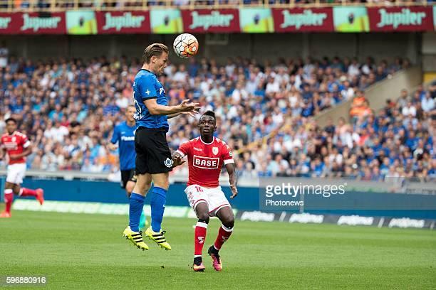 b25 Ruud Vormer midfielder of Club Brugge during the Jupiler Pro League match between Club Brugge and Standard de Liege at the Jan Breyden stadium on...