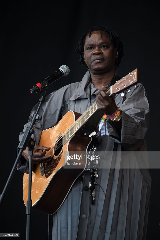 Baaba Maal performs on the Pyramid Stage on day 2 of the Glastonbury Festival at Worthy Farm, Pilton on June 25, 2016 in Glastonbury, England. Now in its 46th year the festival is one largest music festivals in the world and this year features headline acts Muse, Adele and Coldplay. The Festival, which Michael Eavis started in 1970 when several hundred hippies paid just £1, now attracts more than 175,000 people.