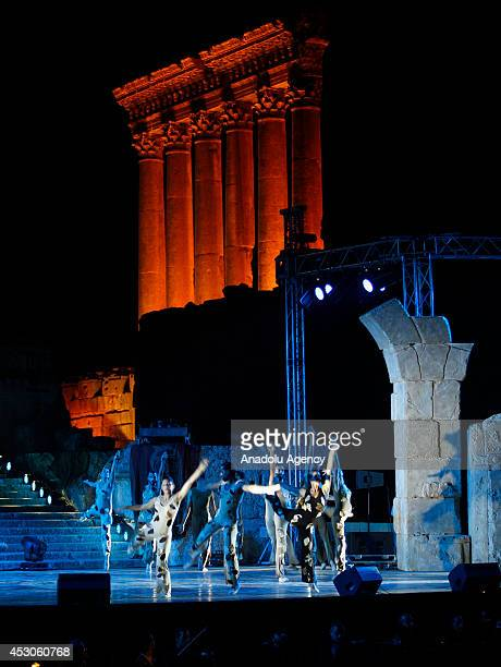 Baalbeck International Festival starts and is held in the ruins of the Roman temple in Baalbeck Lebanon on 31 July 2014 Classical music dance theater...