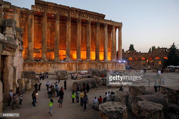 Baalbeck International Festival starts in Baalbeck Lebanon on 31 July 2014 Historical structures of Roman Empire attract visitor's attention...
