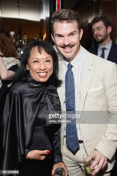Baayork Lee and Denis Jones attend Designed To Celebrate A Toast To The 2017 Tony Awards Creative Arts Nominees at The Lamb's Club at the Chatwal NY