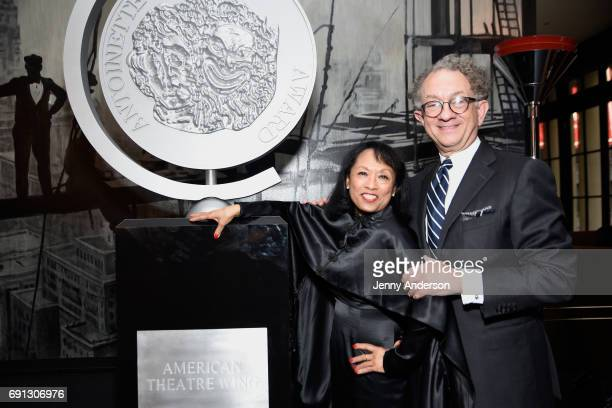 Baayork Lee and William Ivey Long attend Designed To Celebrate A Toast To The 2017 Tony Awards Creative Arts Nominees at The Lamb's Club at the...