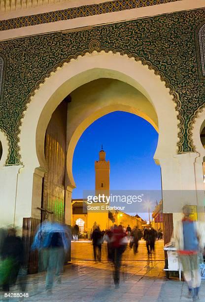 Bab Bou Jeloud gate, dusk